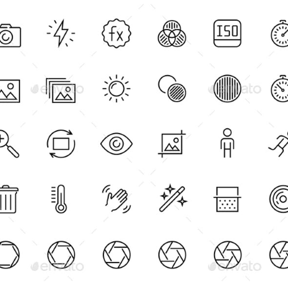 Photography and Digital Camera Related Icon Set