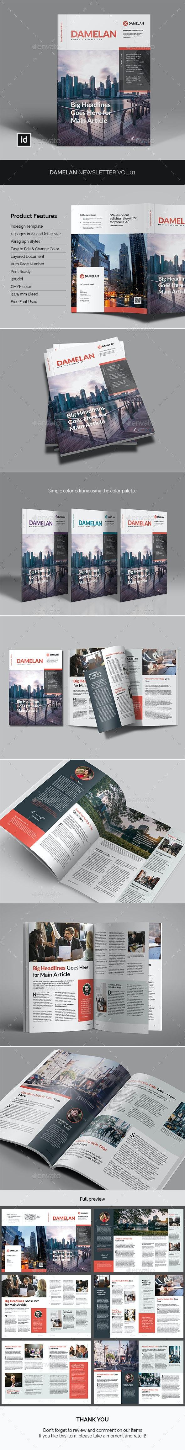 Damelan Newsletter Vol.01 - Newsletters Print Templates