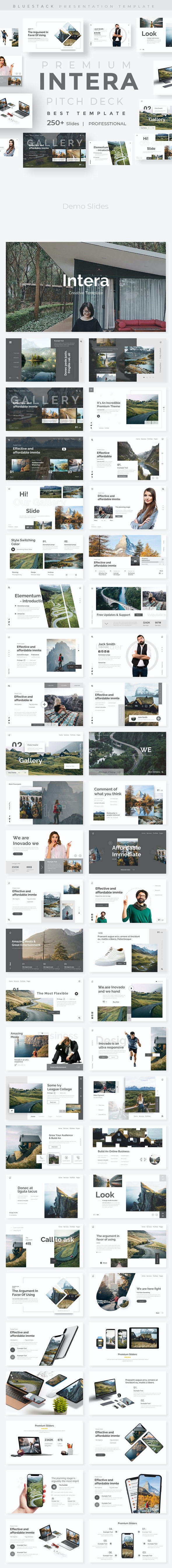 Intera Premium Google Slide Template - Google Slides Presentation Templates