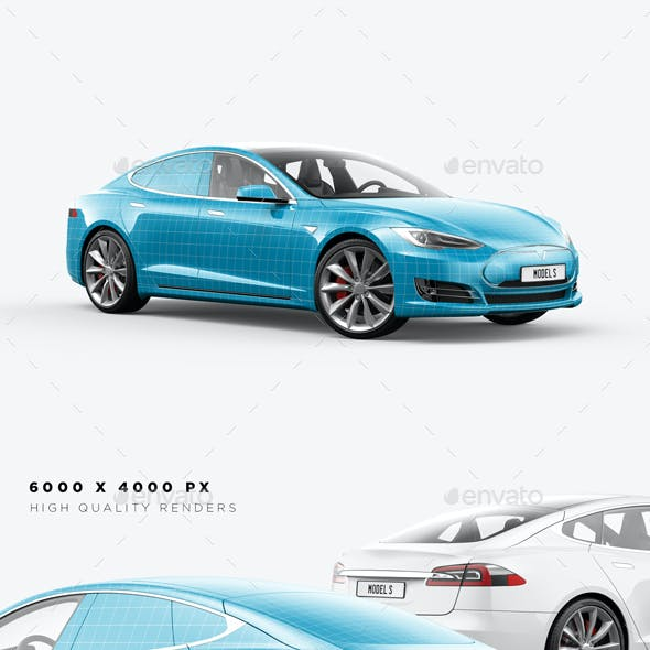 Model S Electric Car Mockup