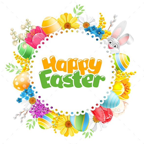 Vector Illustration For Happy Easter Holiday - Miscellaneous Seasons/Holidays