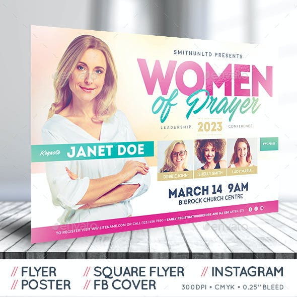 Women Conference Flyer - Prayer - Complete Set