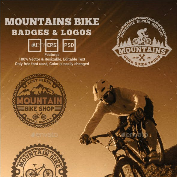 Mountains Bike Logos and Badges