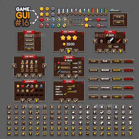 Game GUI #16 - User Interfaces Game Assets