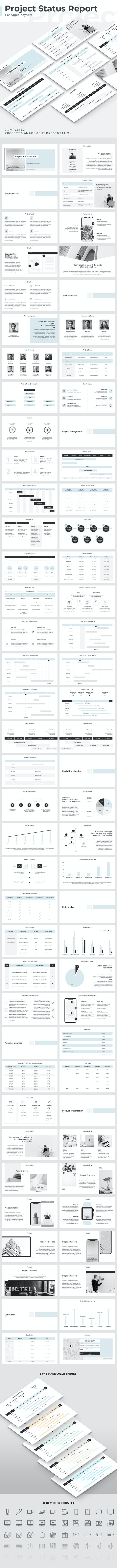 Project Status Report Keynote Template - Business PowerPoint Templates