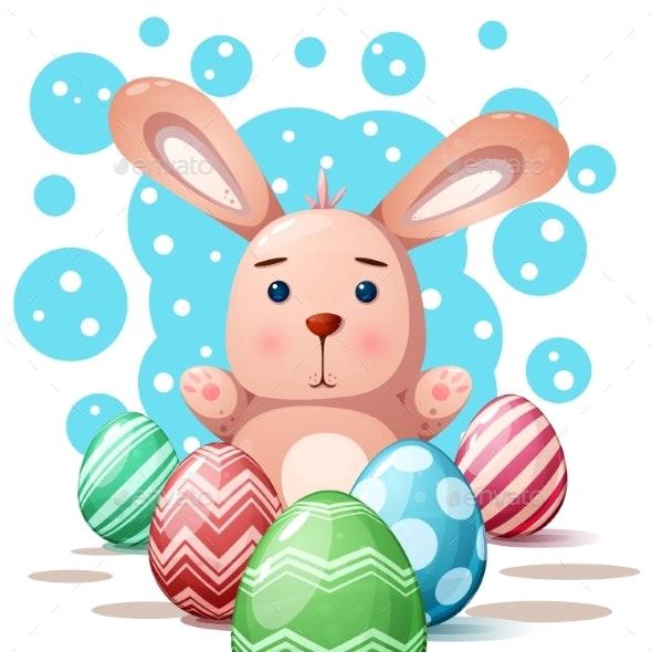 Rabbit Princess - Cartoon Illustration - Animals Characters