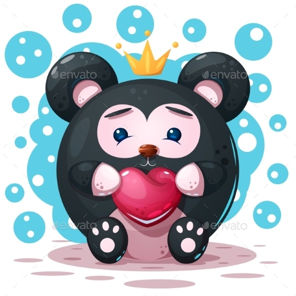 Cartoon Panda Character - Animals Characters