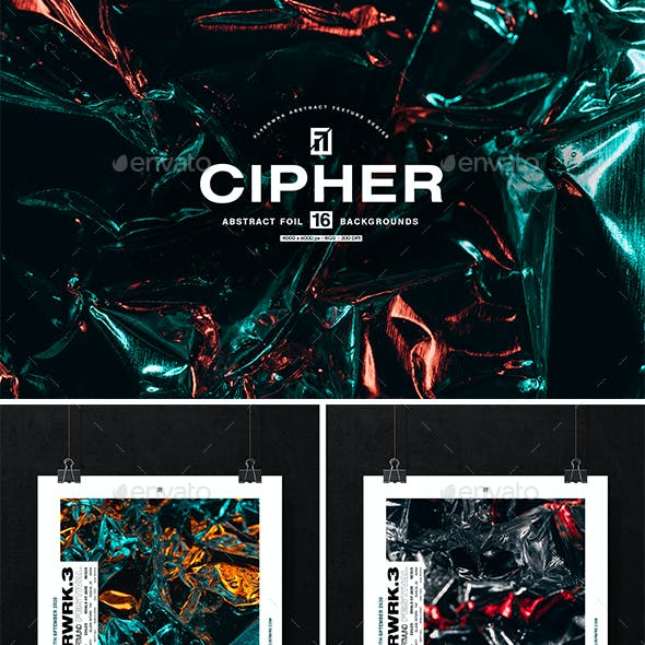 Cipher - Abstract Metal Foil Textures