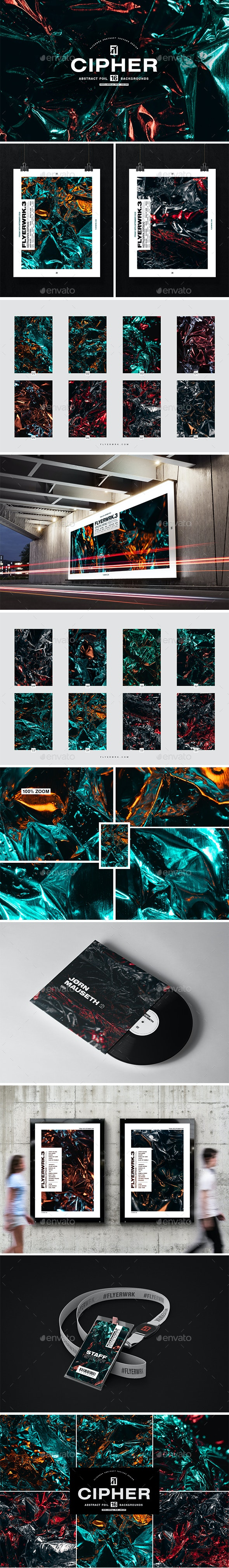 Cipher - Abstract Metal Foil Textures - Abstract Textures