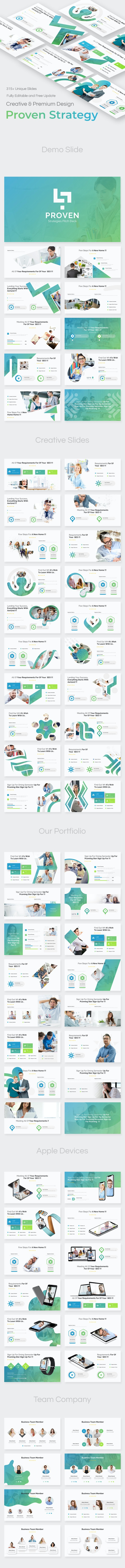 Proven Strategies Pitch Deck Keynote Template - Business Keynote Templates