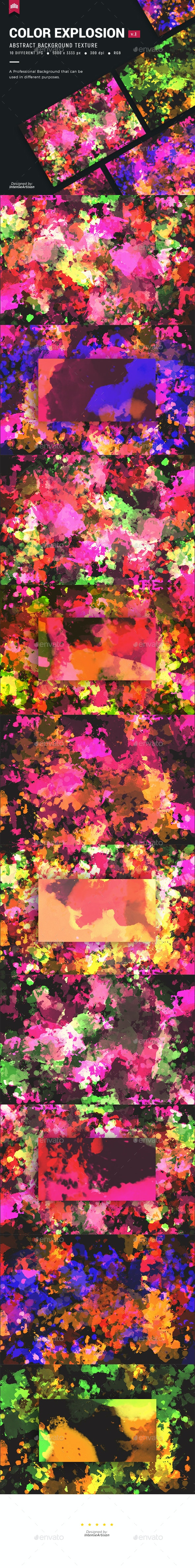 Color Explosion V.1 - Background - Abstract Backgrounds