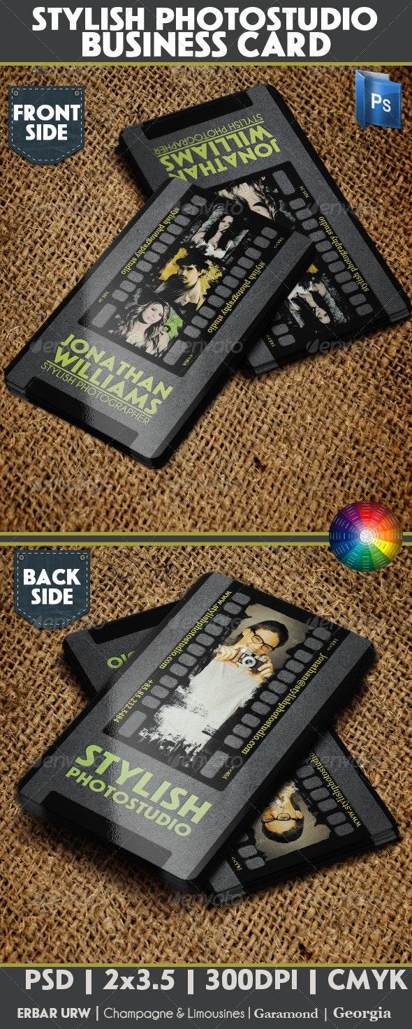 Stylish Photostudio Business Card - Business Cards Print Templates