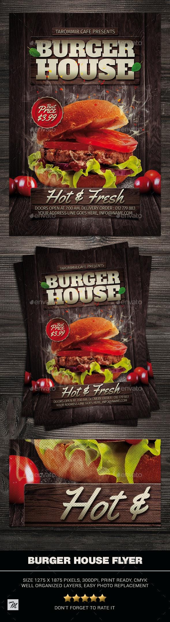 Burger House Flyer - Restaurant Flyers
