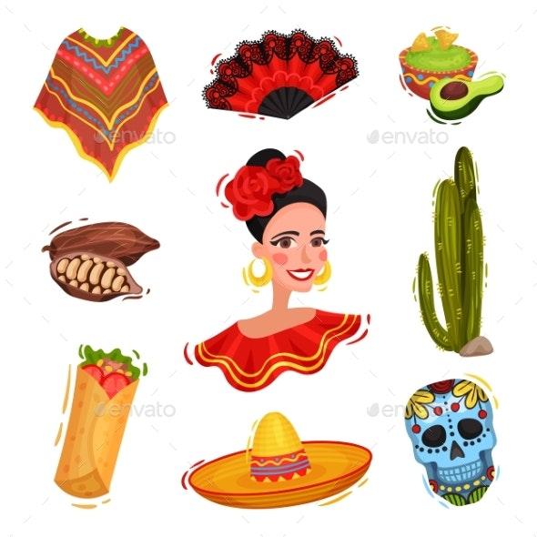 Traditional Festive Mexican Paraphernalia - Miscellaneous Vectors