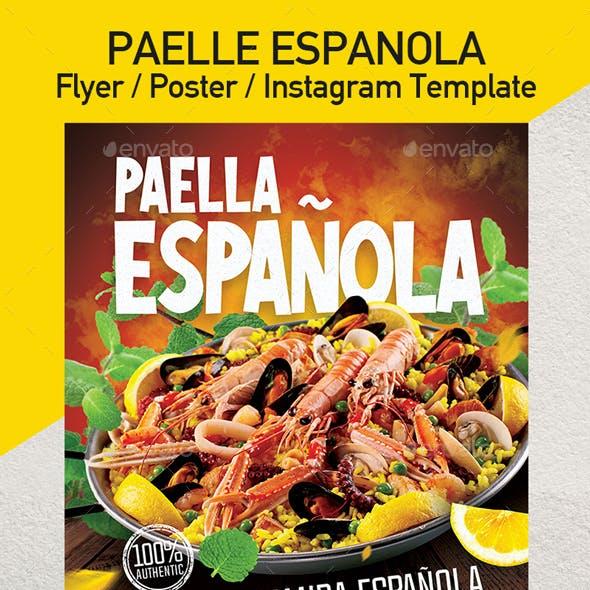 Paella - Spanish Food Flyer - Set of 3 Templates