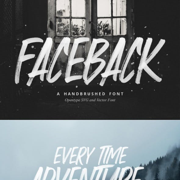 Faceback – SVG Brush Font