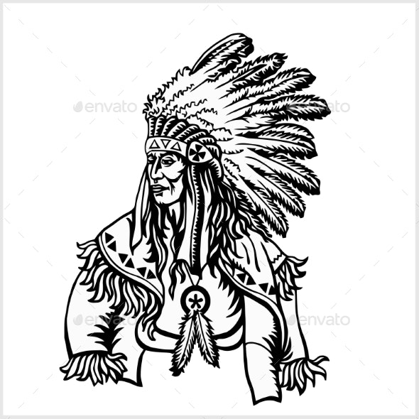 American Native Chief - People Characters