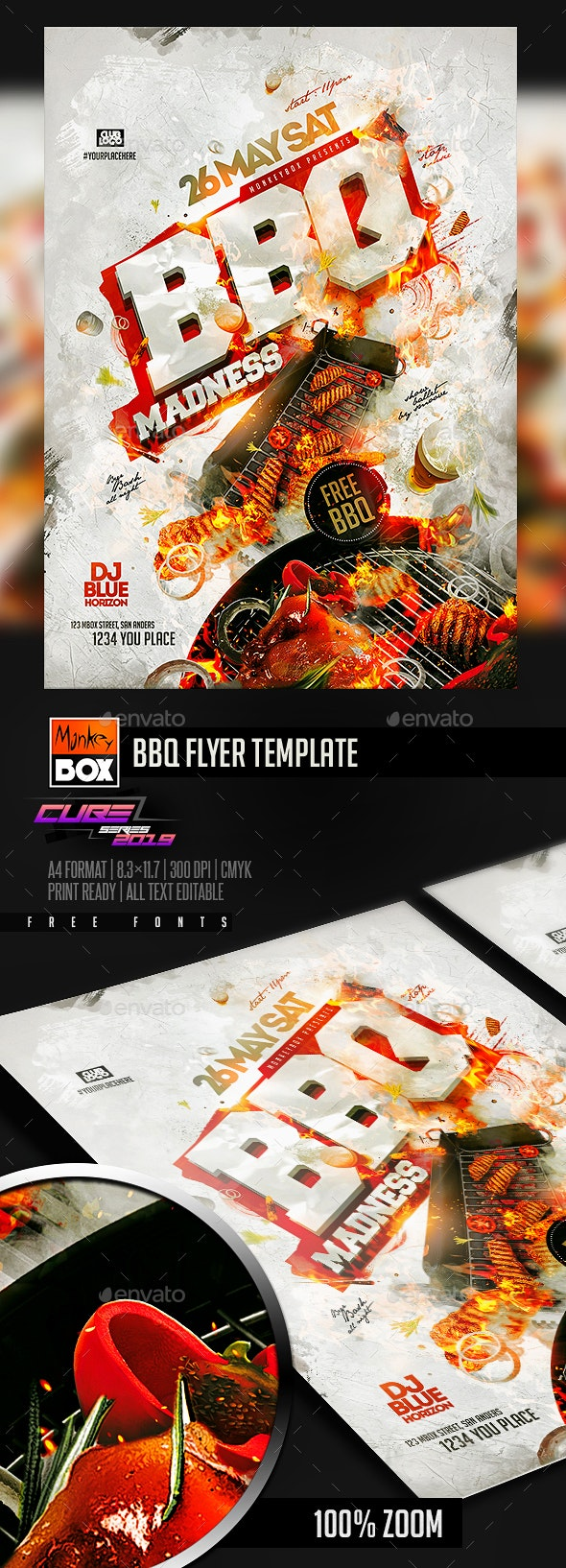 BBQ Flyer Template - Clubs & Parties Events