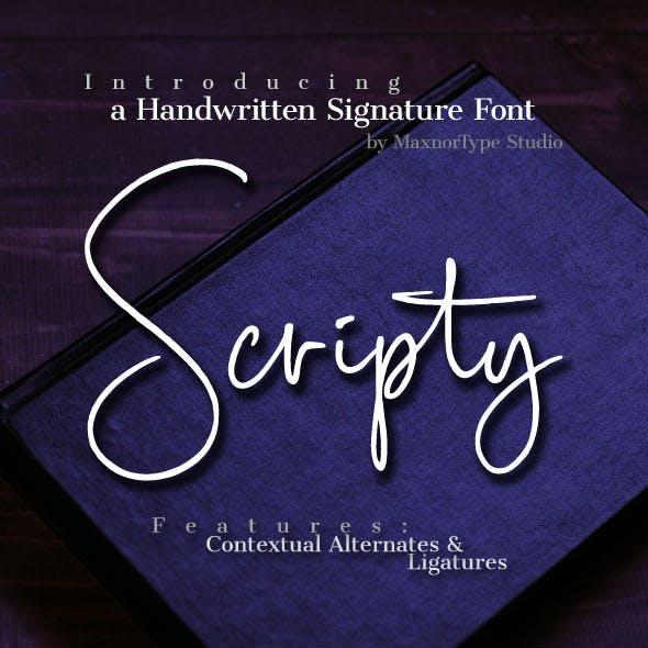 Scripty Handwritten Signature Font