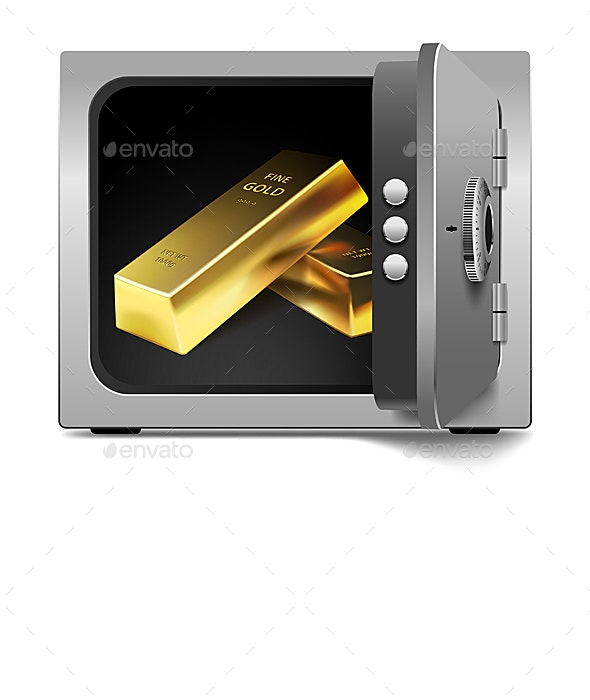 Storage Safe with Gold Bars - Concepts Business