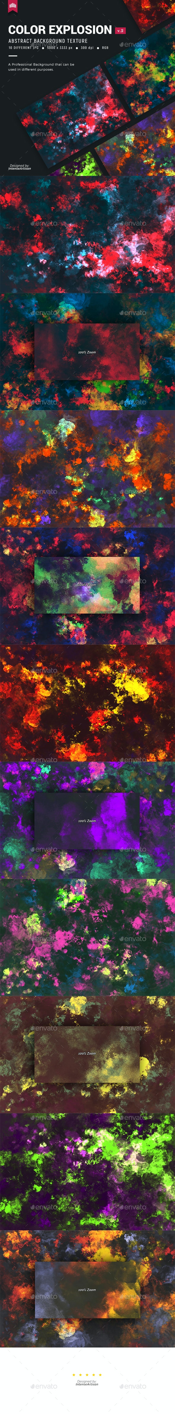 Color Explosion V.2 - Background - Abstract Backgrounds