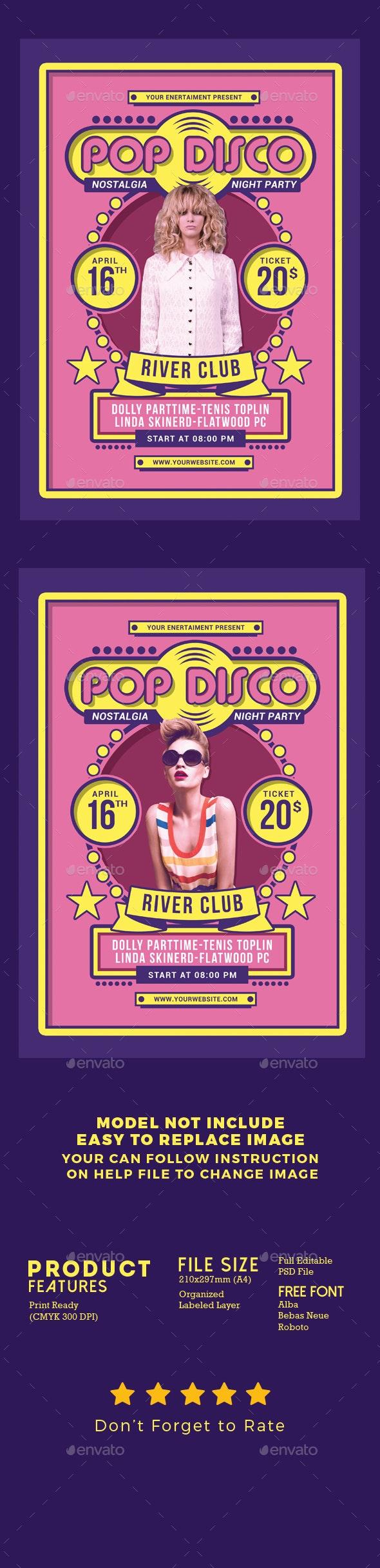 Retro Pop Disco - Events Flyers