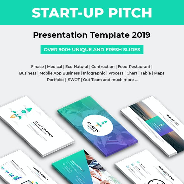 Start-Up Pitch Deck Keynote Template 2019