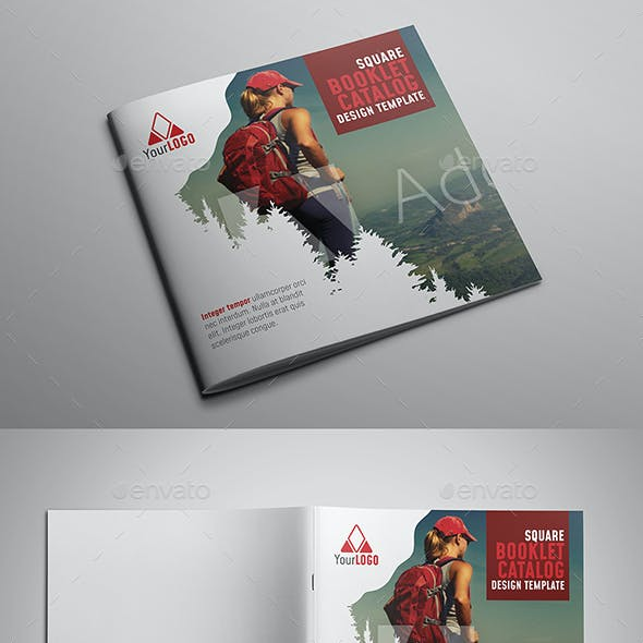 Square Booklet Catalog Design Template