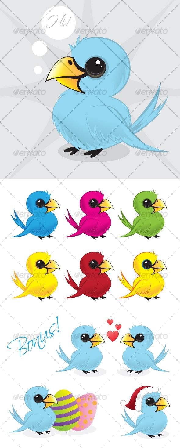 Vector twitter bird illustration - Animals Characters