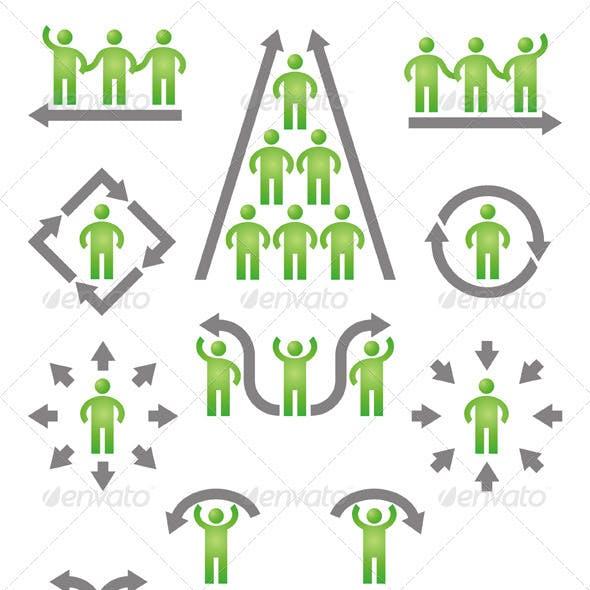 People & Arrows