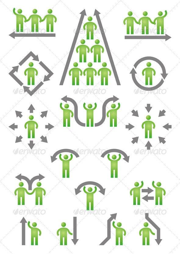 People & Arrows - Decorative Symbols Decorative