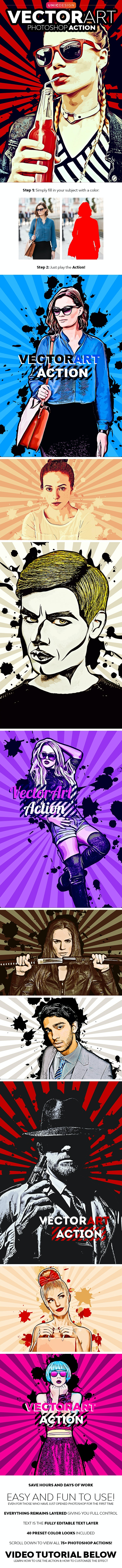 VectorArt Photoshop Action - Photo Effects Actions