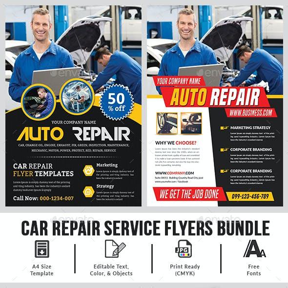 Car Repair Flyers Bundle