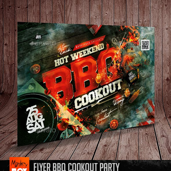 Flyer BBQ Cookout Party
