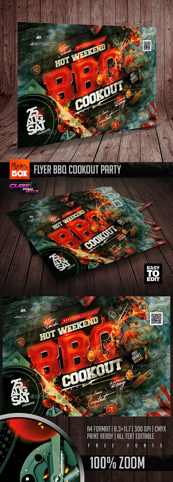 Flyer BBQ Cookout Party - Clubs & Parties Events