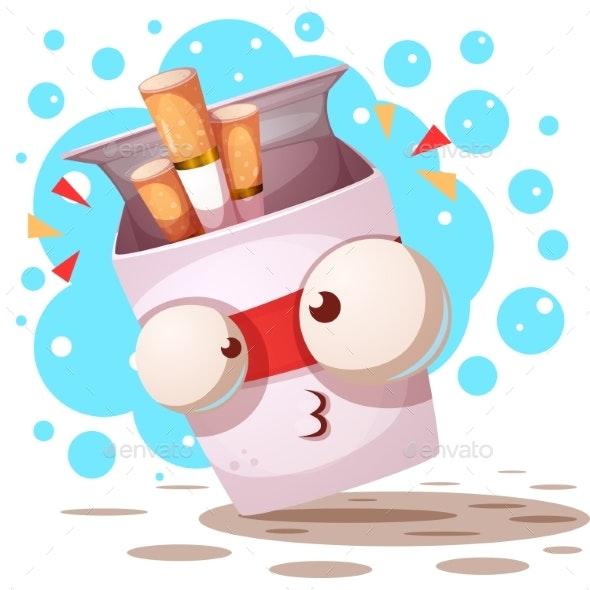 Crazy Cigarette Cartoon Characters - Miscellaneous Vectors