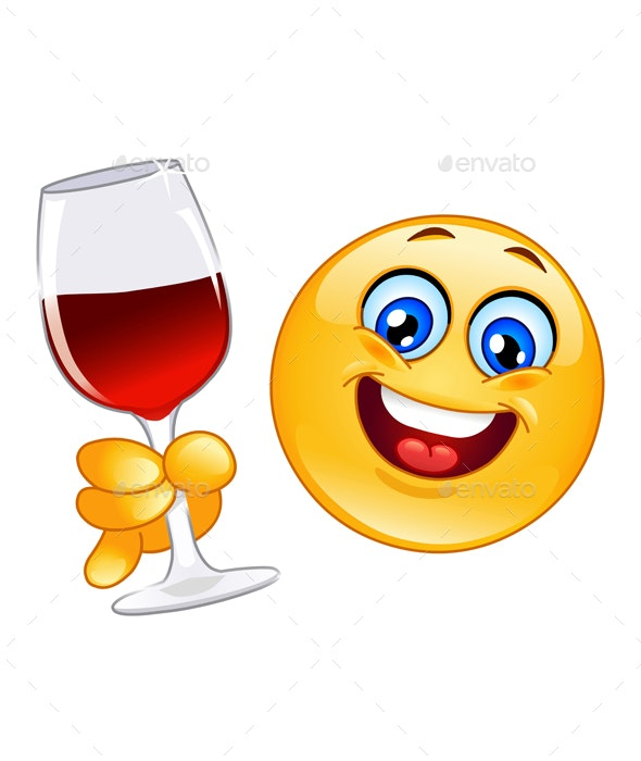 Cheers Emoticon - People Characters