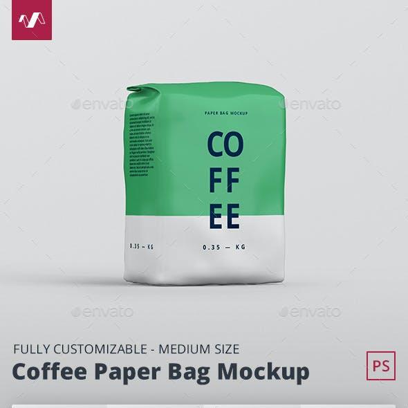 Coffee Paper Bag Mockup Medium Size