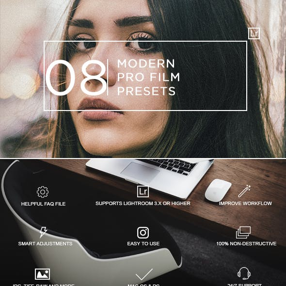 8 Modern Film Pro Presets