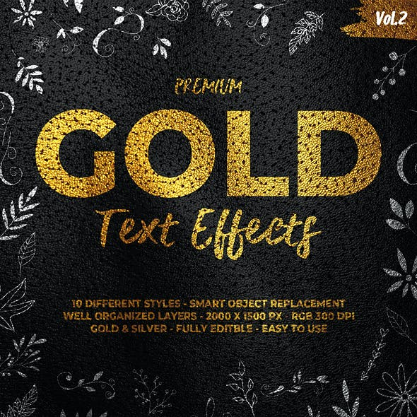 Gold Text Effects