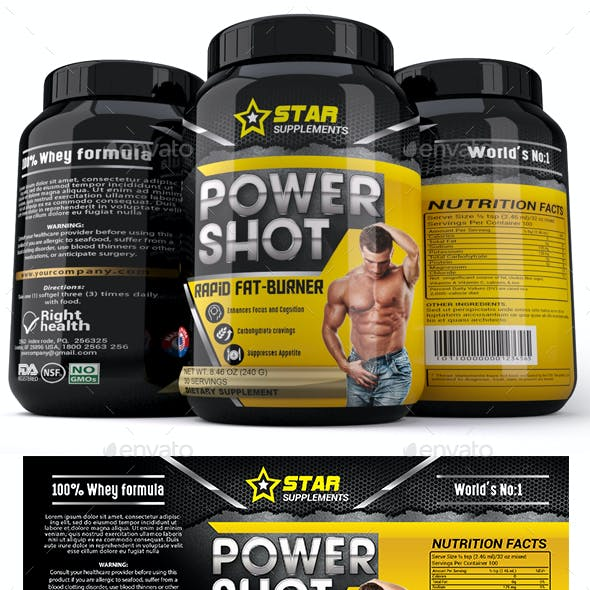 Body Supplement Label Template Vol-40