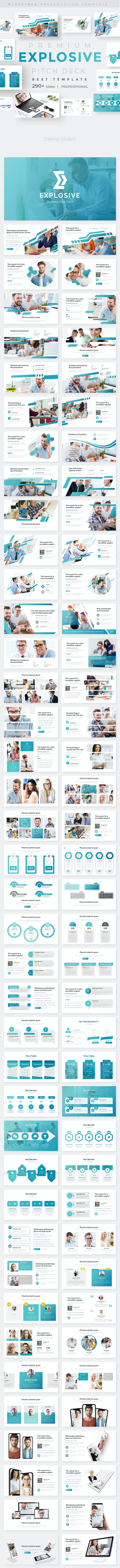 Explosive Business Pitch Deck Powerpoint Template - Business PowerPoint Templates