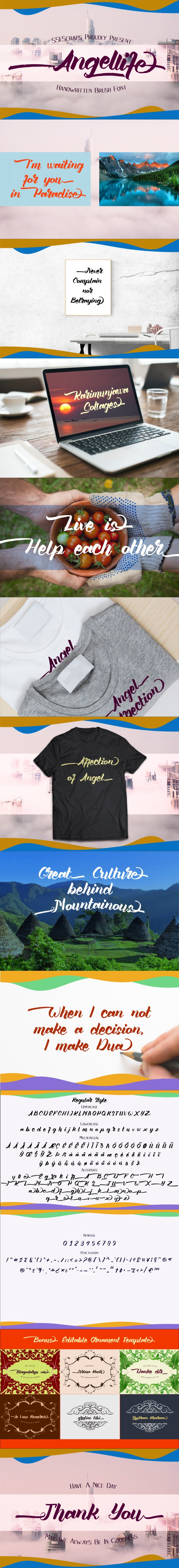 Angellife Brush Font - Hand-writing Script