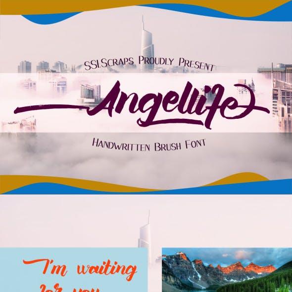 Angellife Brush Font