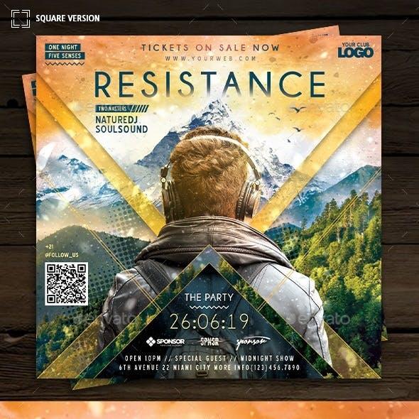 DJ Event Resistance Flyer