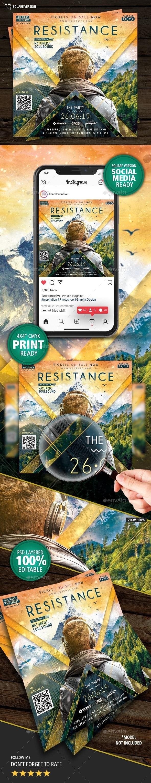 DJ Event Resistance Flyer - Clubs & Parties Events