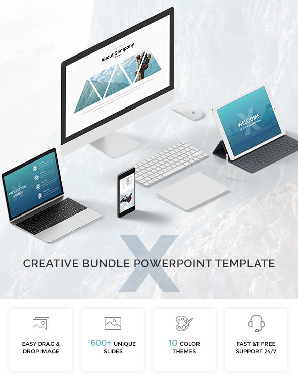 2 in 1 Creative Bundle Powerpoint Template 2019 - Creative PowerPoint Templates