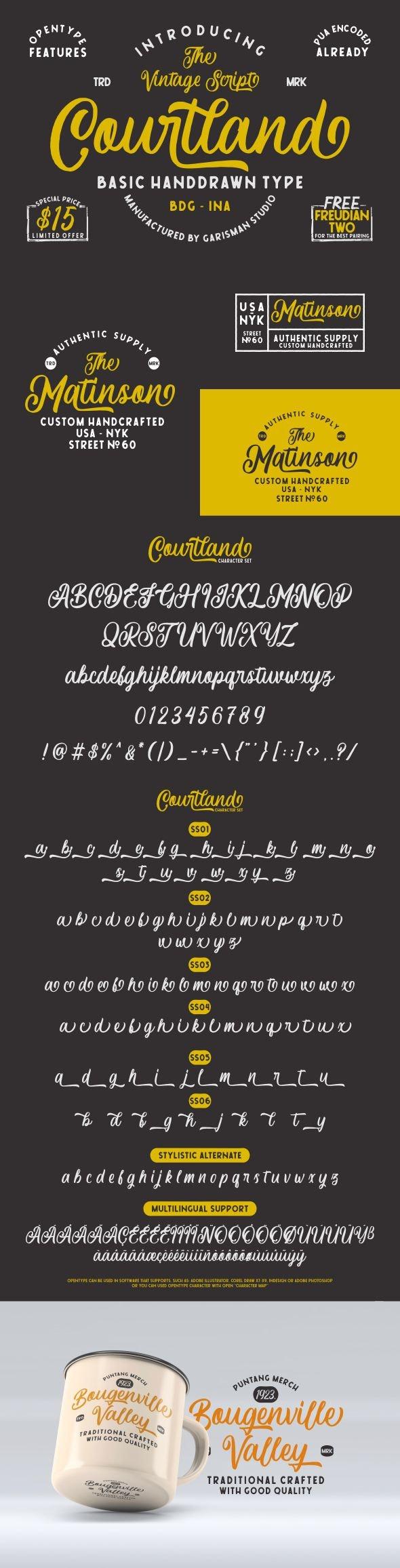 Courtland - Hand-writing Script