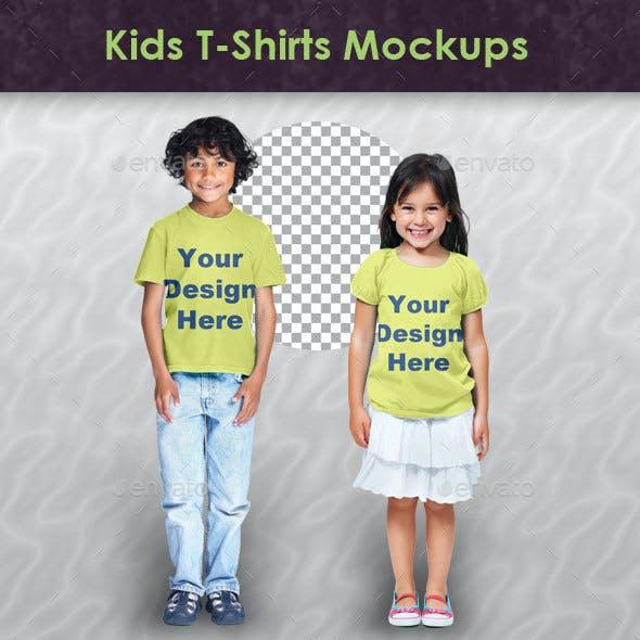 Kids T-Shirts Mockups