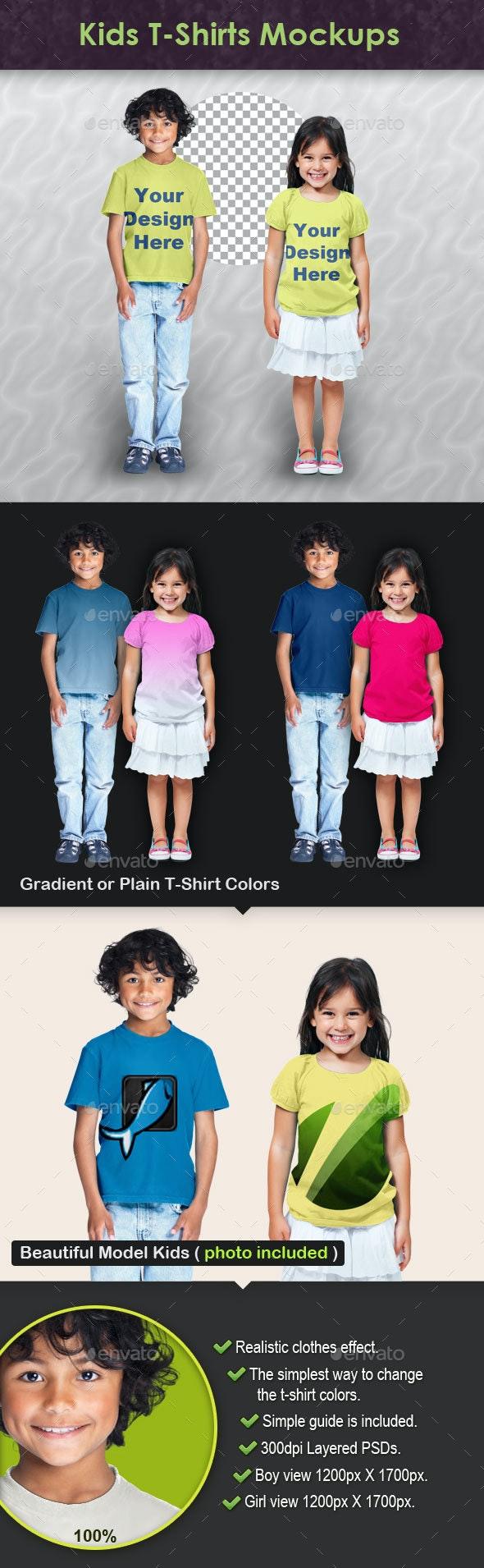 Kids T-Shirts Mockups - T-shirts Apparel